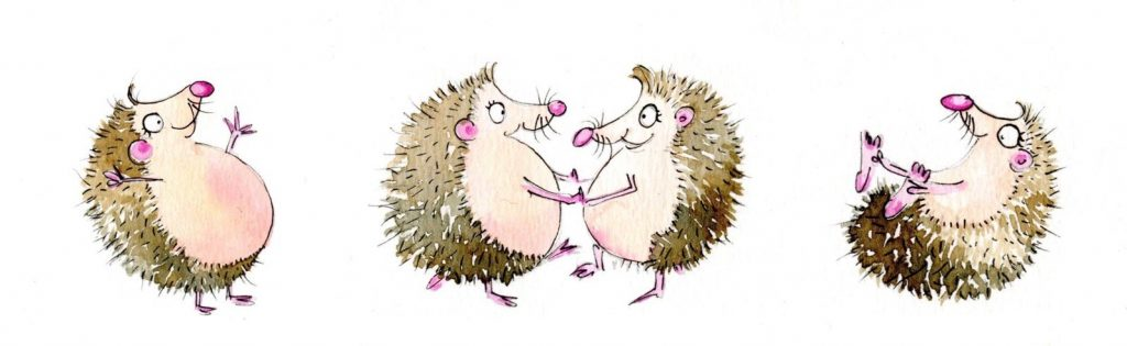 dancing hedgehogs