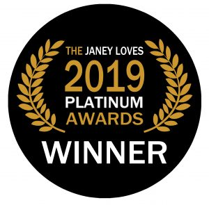Janey Loves 2019 platinum awards winner logo