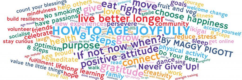How to Age Joyfully Word Cloud